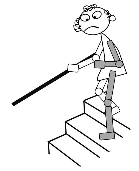 階段を降りるイラスト