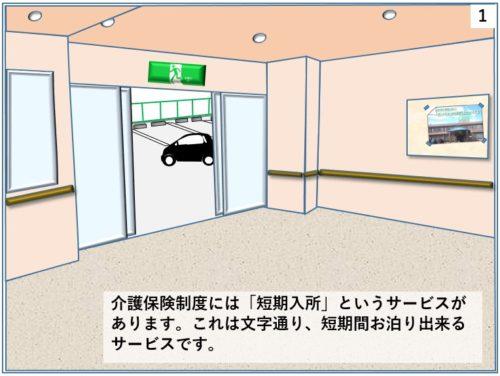 短期入所というサービスがあることを説明するイラスト