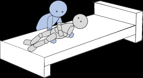 ベッド上移動7(側方移動)