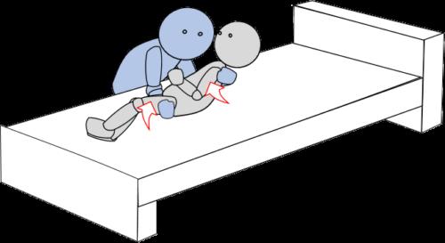 ベッド上移動8(上方移動)