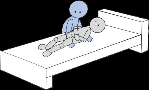 ベッド上移動10(上方移動)