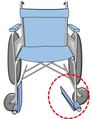 車椅子フットレストがパタンと落ちる1
