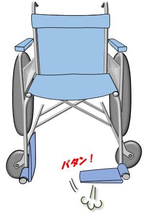 車椅子フットレストがパタンと落ちる2