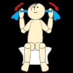 タオルで肩甲骨体操2