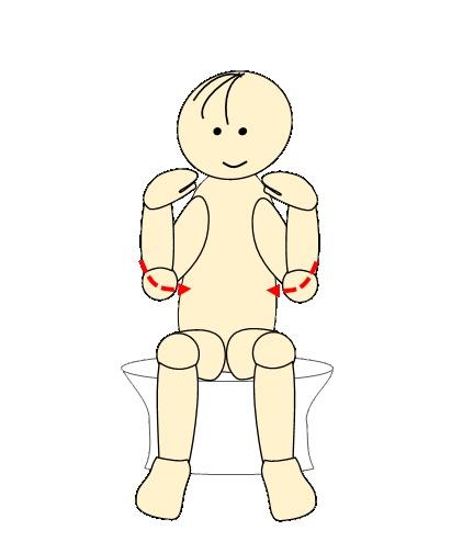 タオルで肩甲骨体操26
