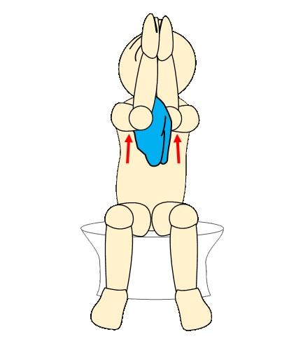 タオルで肩甲骨体操4