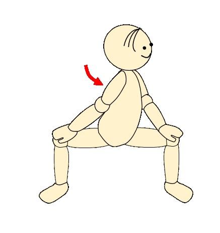 四股で腰痛予防体操4