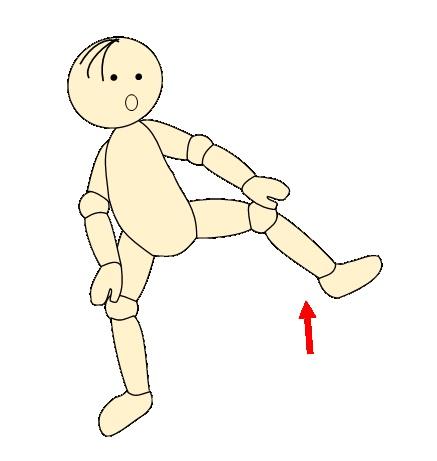 四股で腰痛予防体操5