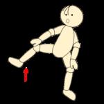 四股で腰痛予防体操7