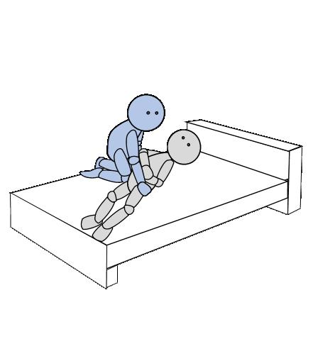ベッド上移動4(側方移動)