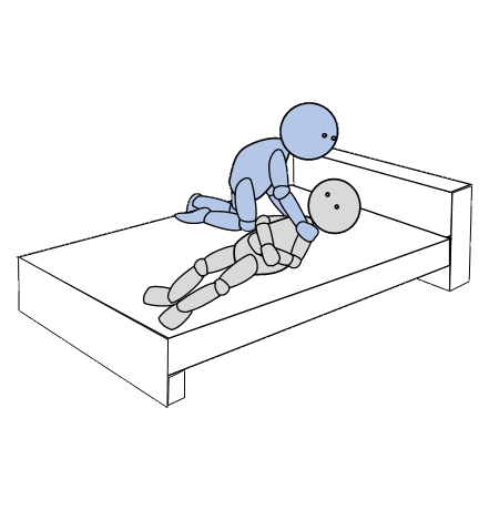 ベッド上移動6(側方移動)