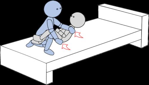 ベッド上移動13(上方移動)
