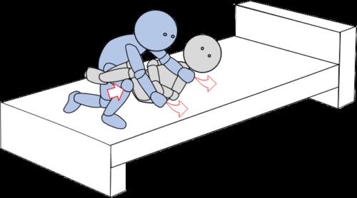 ベッド上移動14(上方移動)