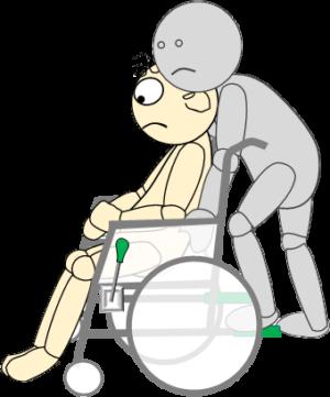 車椅子8(車椅子傾斜2)